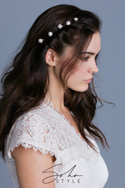 Crystal Cluster Mini Hair Comb
