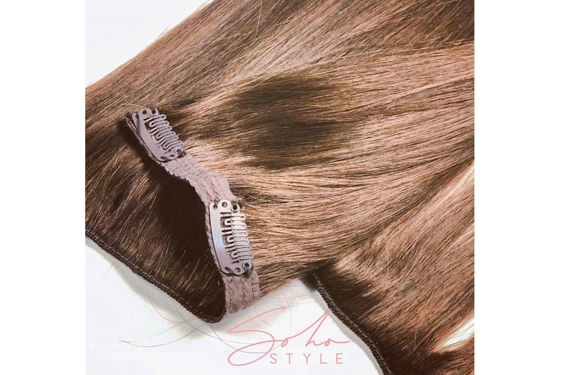 "Seven Sisters 15"",18"", 22"" Clip-In Human Hair Extensions Hair Extension Soho Style"