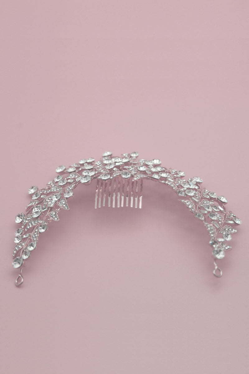 Crystal Wreath Comb Wedding Sale