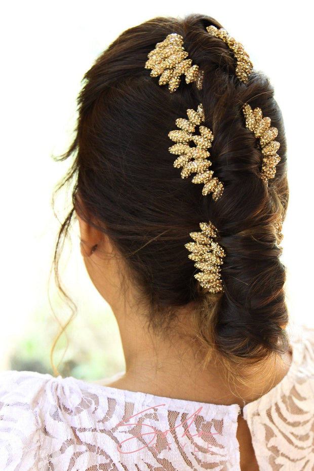 ROMANTIC ROSE HAIR COMB set ($270 value)