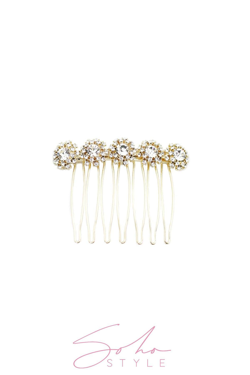 Floral Pattern Bejeweled Hair Comb Hair Comb 2020