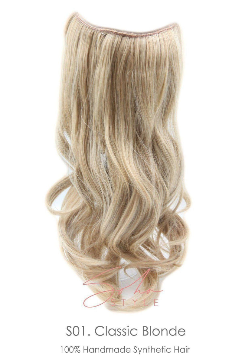 "Black Friday - Aura - Invisible Wired (Halo) FUTURA Hair Extension Available in 15"" or 19"" Special"
