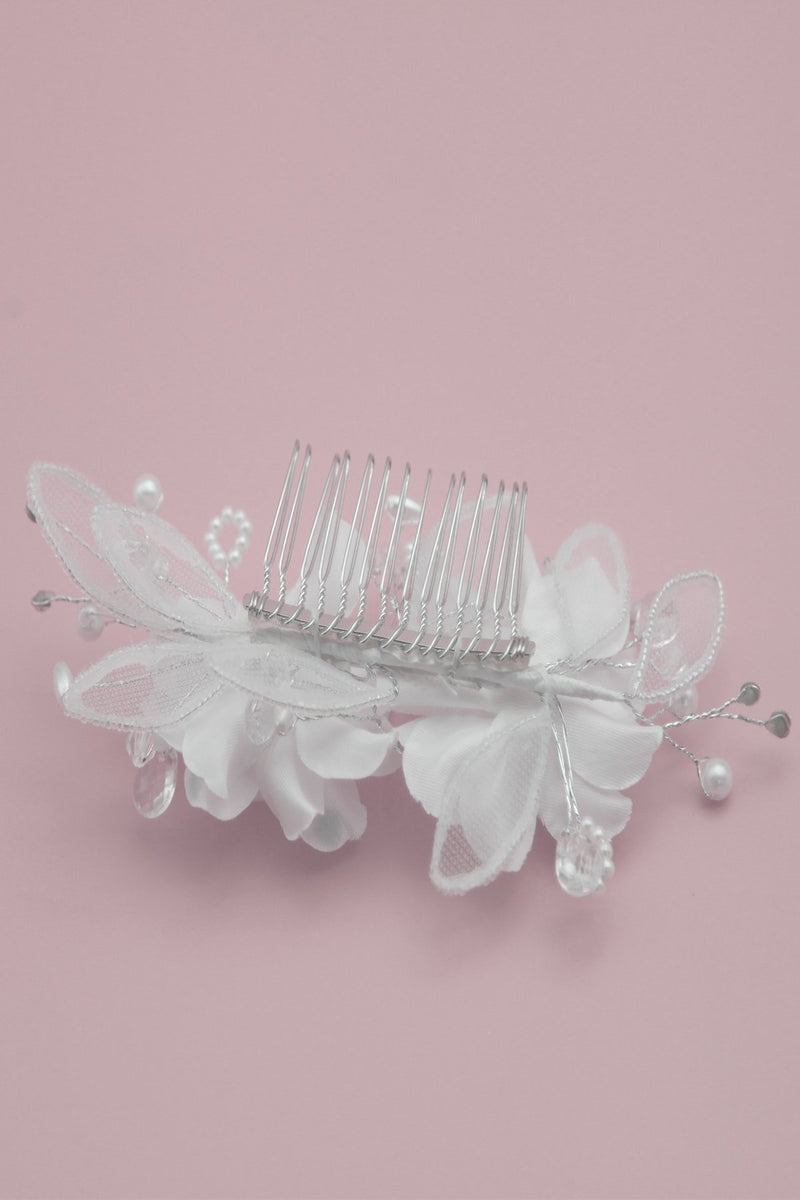 Twin White Carnations Comb Wedding Sale