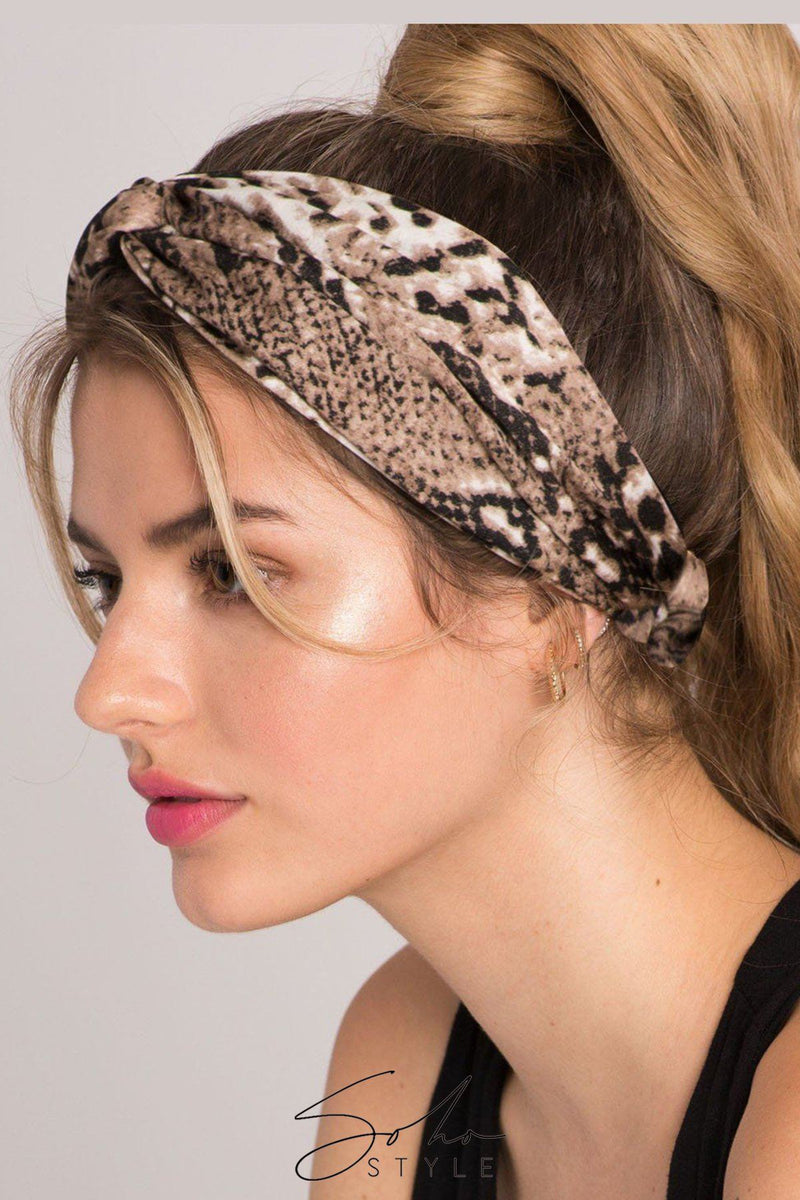 Hair Super Scrunchie and Leopard Wrap Style Headband Hair Accessorie Soho Style