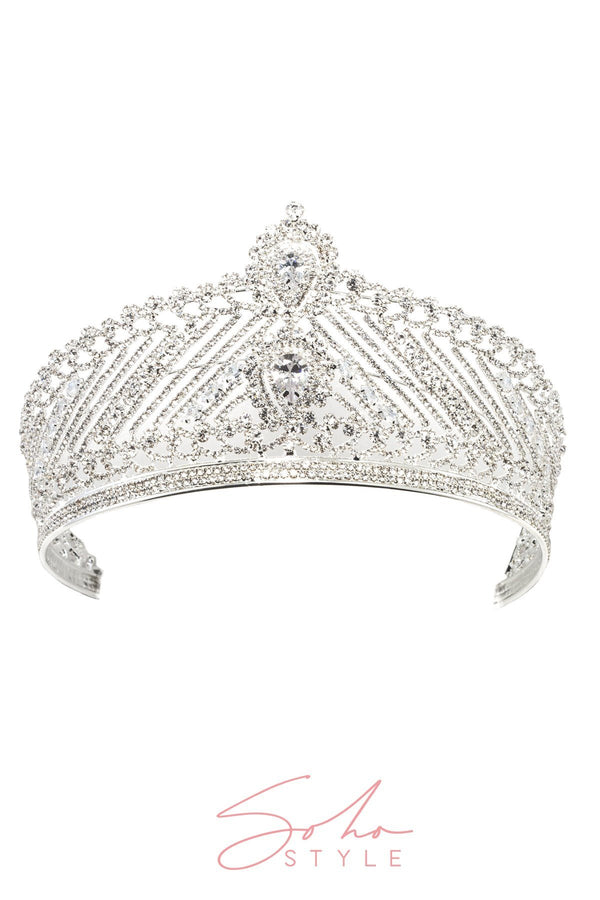 Alydia Crystal Crown Tiara Wedding Sale