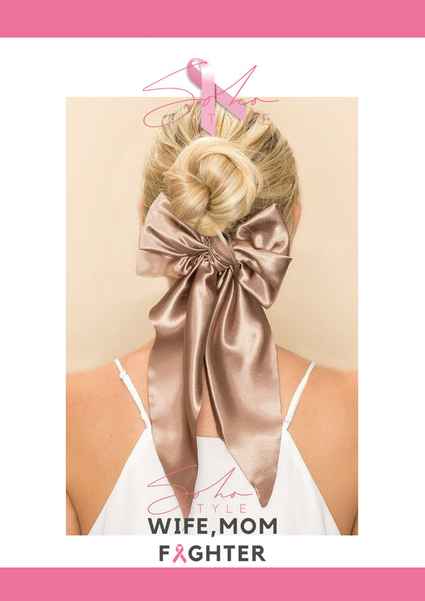 HOLD UP! PONYTAIL HOLDER breast cancer Soho Style