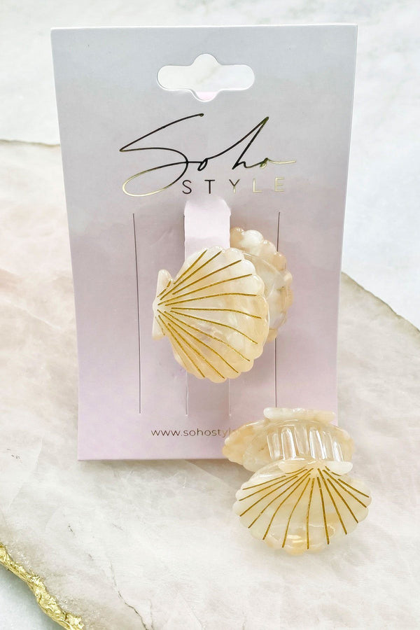 Mini Seashell Hair Jaw 2PCS Set Bobby Pins 2019