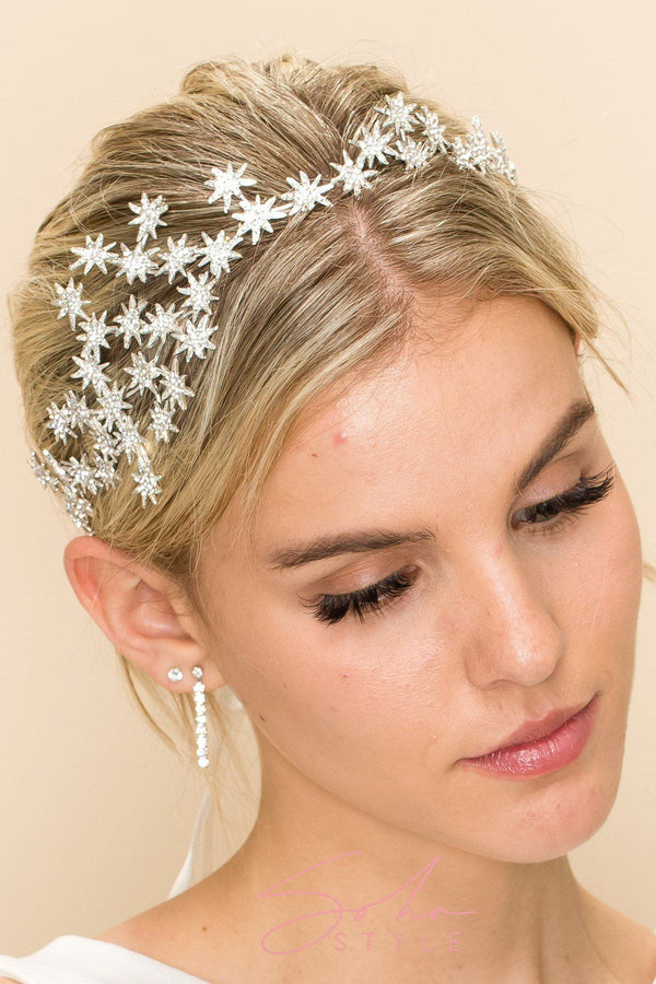 CRYSTAL STAR GAZING HAIR CROWN Wedding Sale