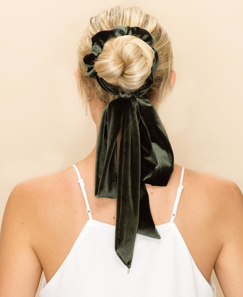 EXTRA LONG VELVET RIBBON SCRUNCHIE Wedding Sale
