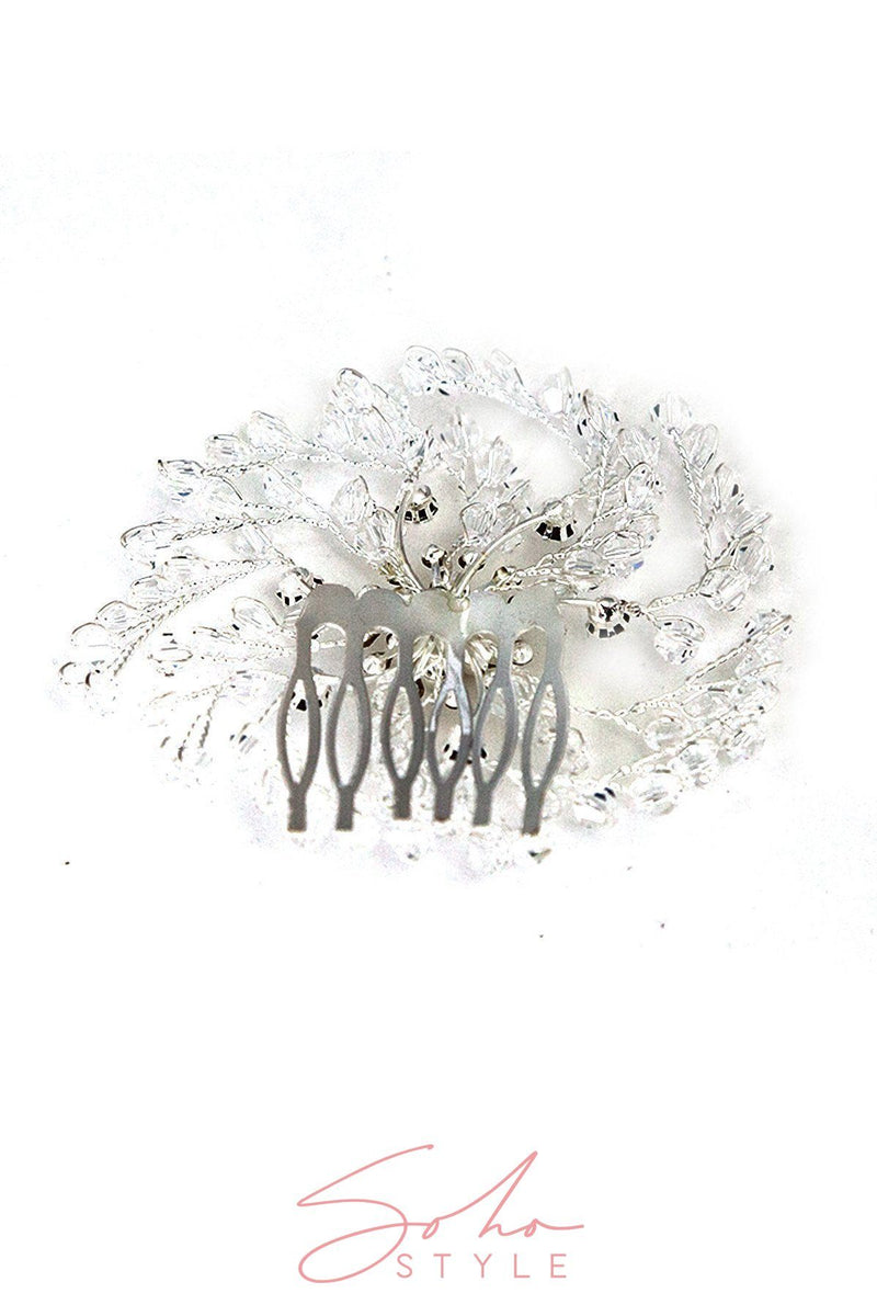 ANGEL BRANCH LEAF CRYSTAL COMB Wedding Sale