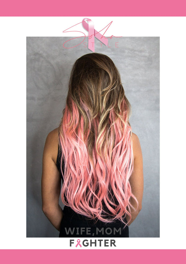 Pink Aura & Pink highlight breast cancer Soho Style