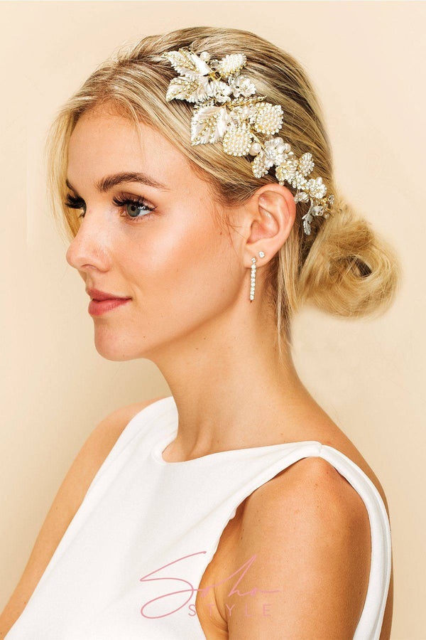 CATHERINE JEWELED HAIR COMB Wedding Sale