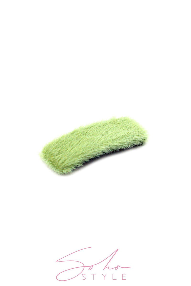 Oversized Fuzzy Rectangle Snap Clip clip 2020