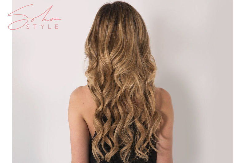 "Root Two Tone Aura - Invisible Wired (Halo) Remy Hair Extension Available in 14"" & 20"" Set Hair Extension Sale"