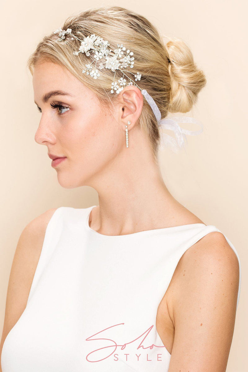 CARINA DAISY HEAD CROWN Wedding Sale
