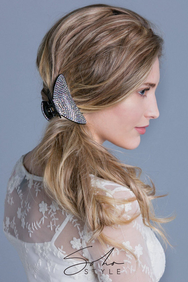 Large Lightweight Crystal Covered Hair Jaw Hair Jaws Soho Style