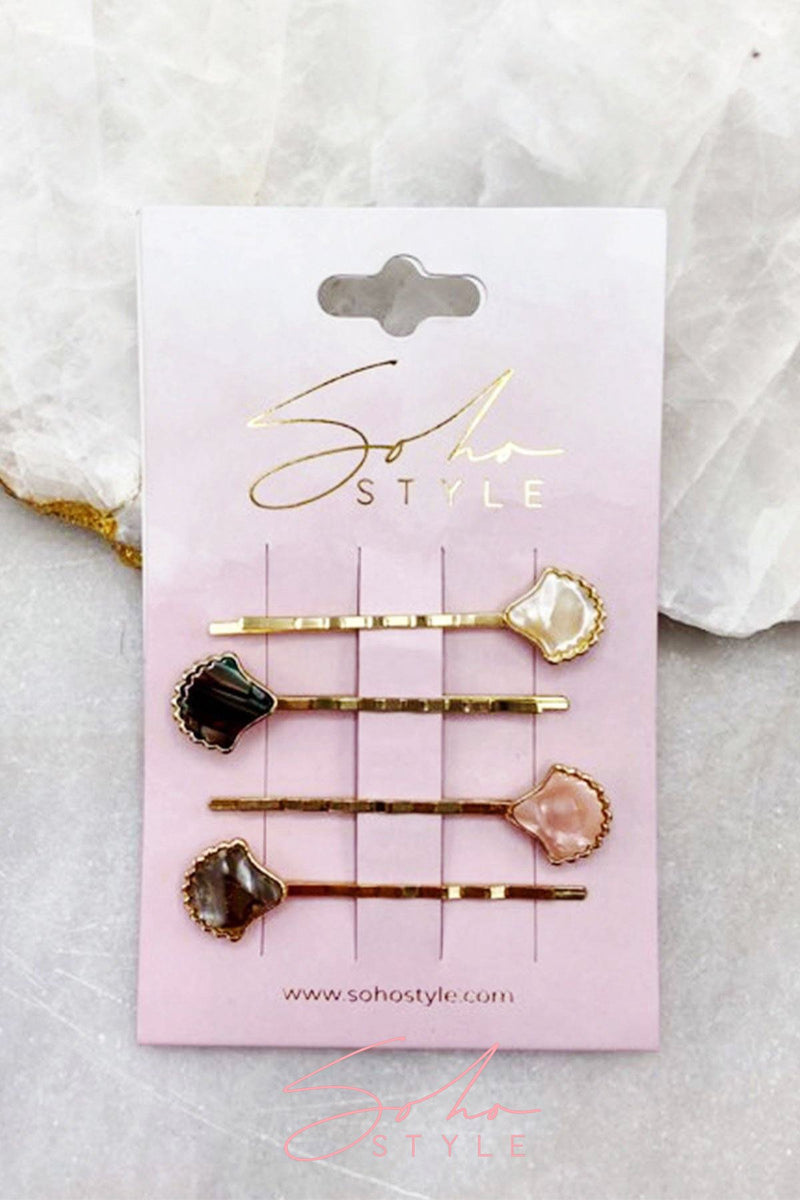 Mosaic Seashell Bobby Pin Set Bobby Pins Sale