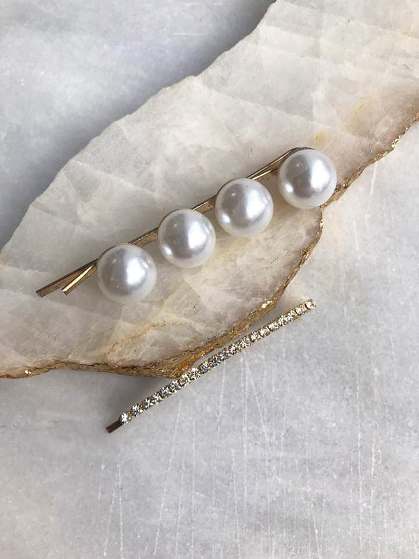 Pearls & Crystals Bobby Pin Duo Set Bobby Pins 2020