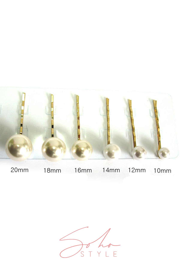 PEARL BOBBY PIN 6 PCS SET Bobby Pins 2020