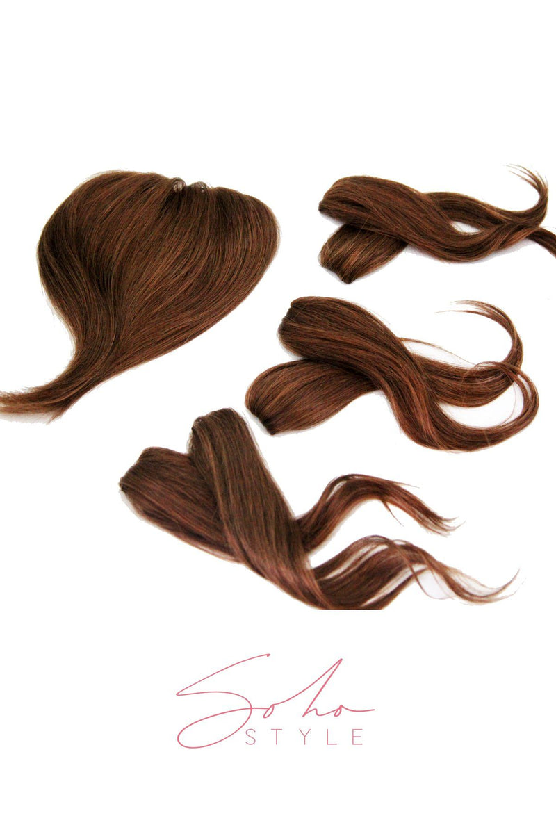 "Special Value Set - Angela 14"" Human Hair Volume Topper Extension + Human Ali set Hair Extension Sale"