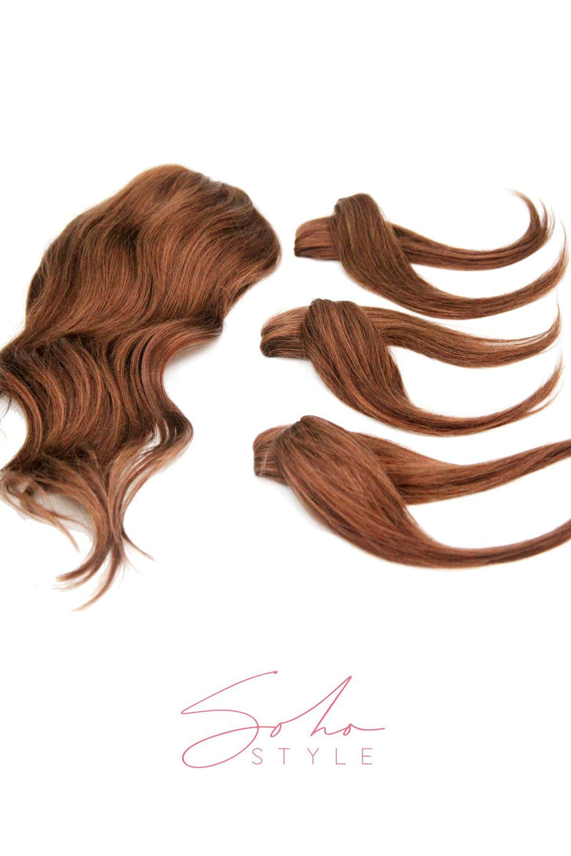 "Special Value Set - Godiva 20"" Luxury Long Volume Topper Remy Human Hair Extension + Ali set Hair Extension Sale"
