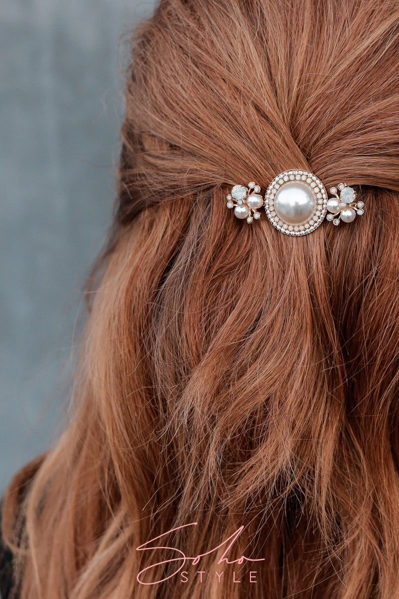 Luxe Pearl Statement Barrette 2019
