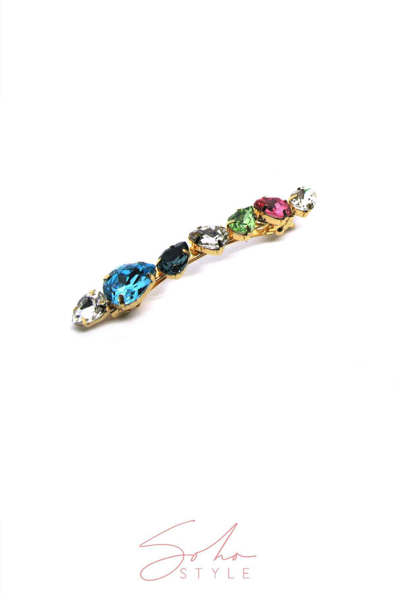 Soho Style Multi-Colored Bejeweled Barrette Barrette 2020