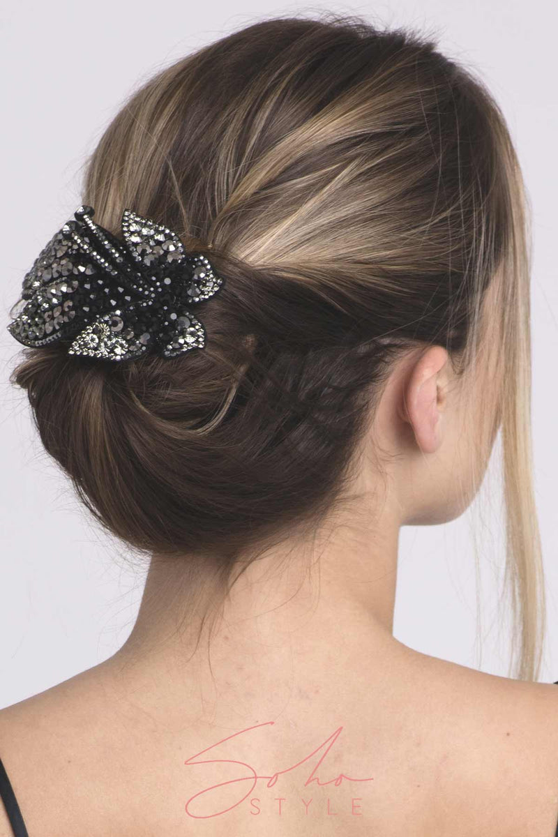 Crystal Coated Butterfly Barrette Barrette 2020