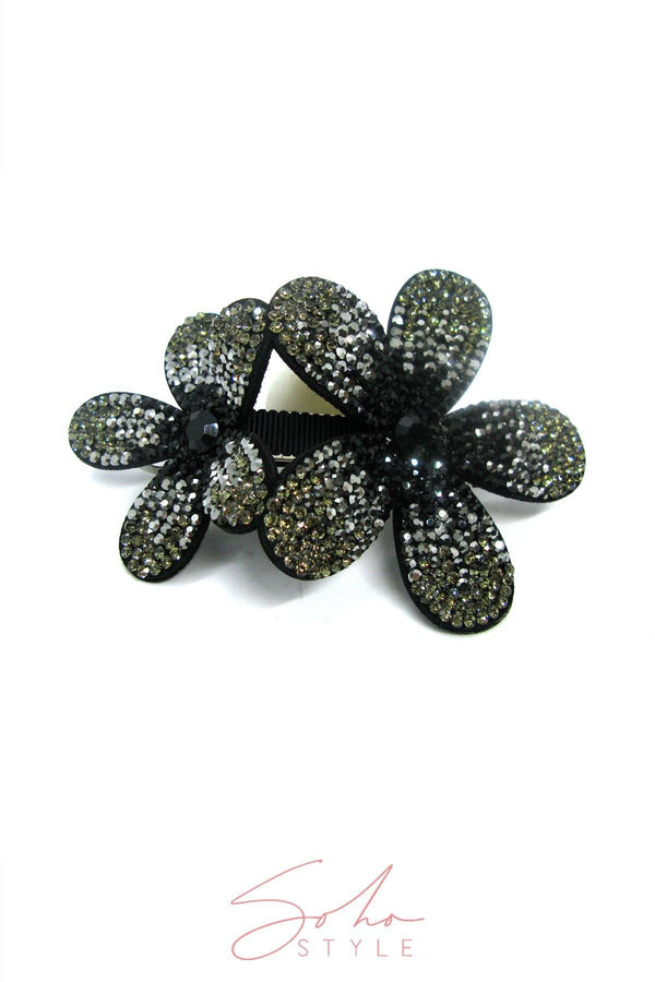 Crystal Coated Flower Barrette Barrette 2020