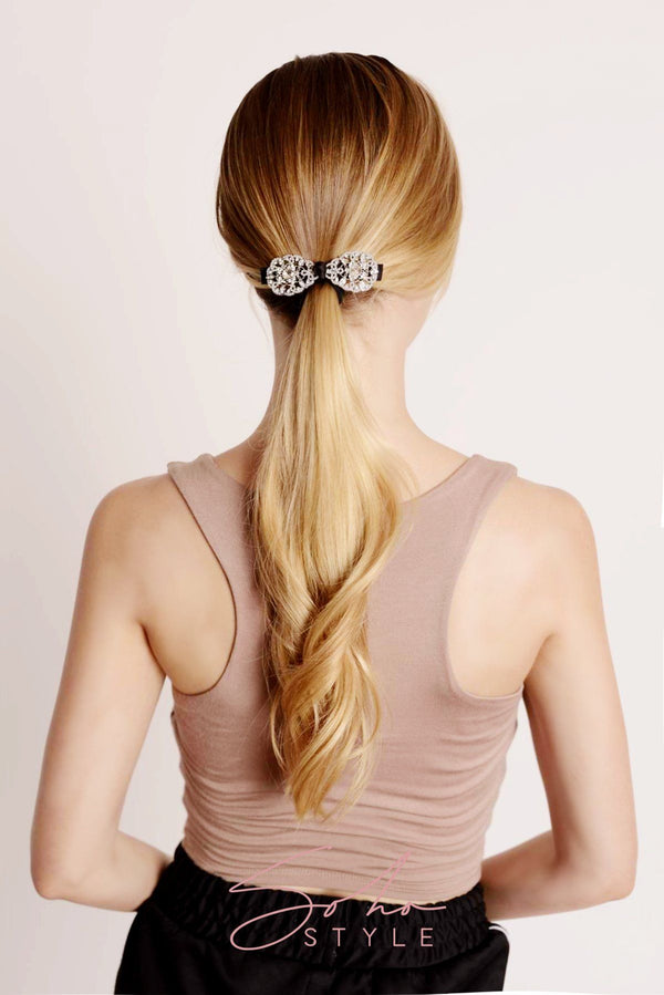 Black Friday - Crystal Statement Bobby Pin & CRYSTAL BOW Set Special