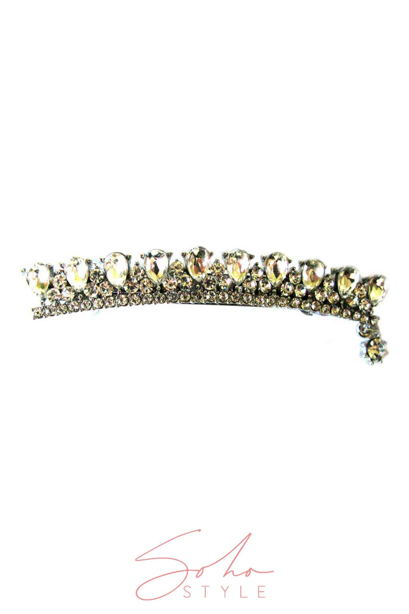 Crown Water drop rhinestone hair barrette Barrette 2020