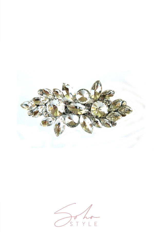 CRYSTAL FLOWER BARRETTE Barrette 2020