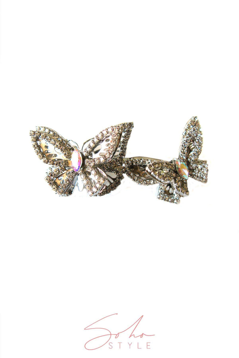 JEWELED TWIN BUTTERFLY BARRETTE Barrette 2020