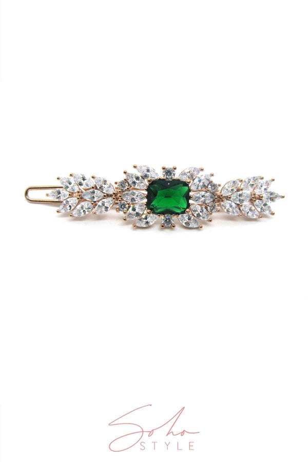 Emerald sparkle hair clip Hair Accessorie AC70054