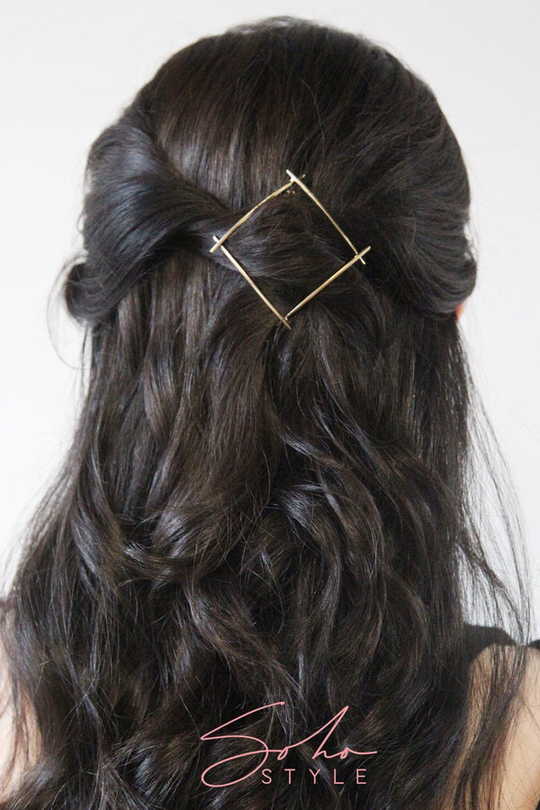 Geo four corner hair clip Hair Accessorie AC70060