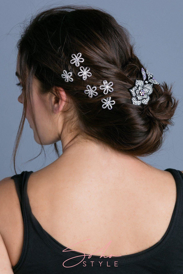 Mini Flower Barrette Barrette Soho Style