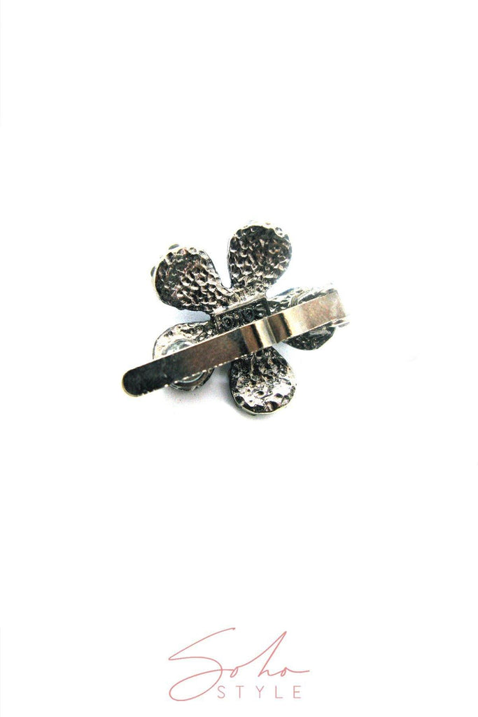 Crystal Daisy Magnetic Barrette Set of 6 - Soho Style