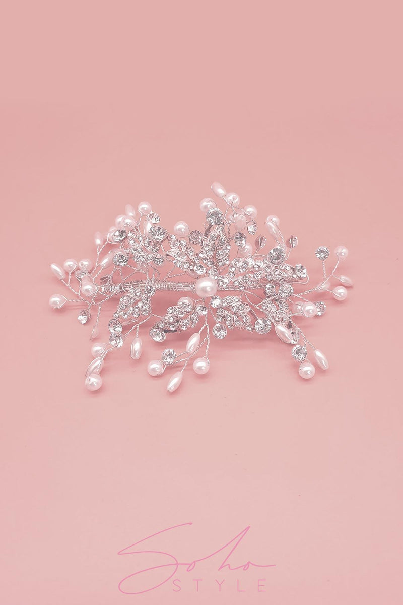 Pearl Vines hair crown Wedding Sale