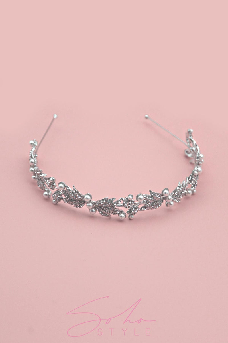 Pearl Tulip Crown Wedding Sale