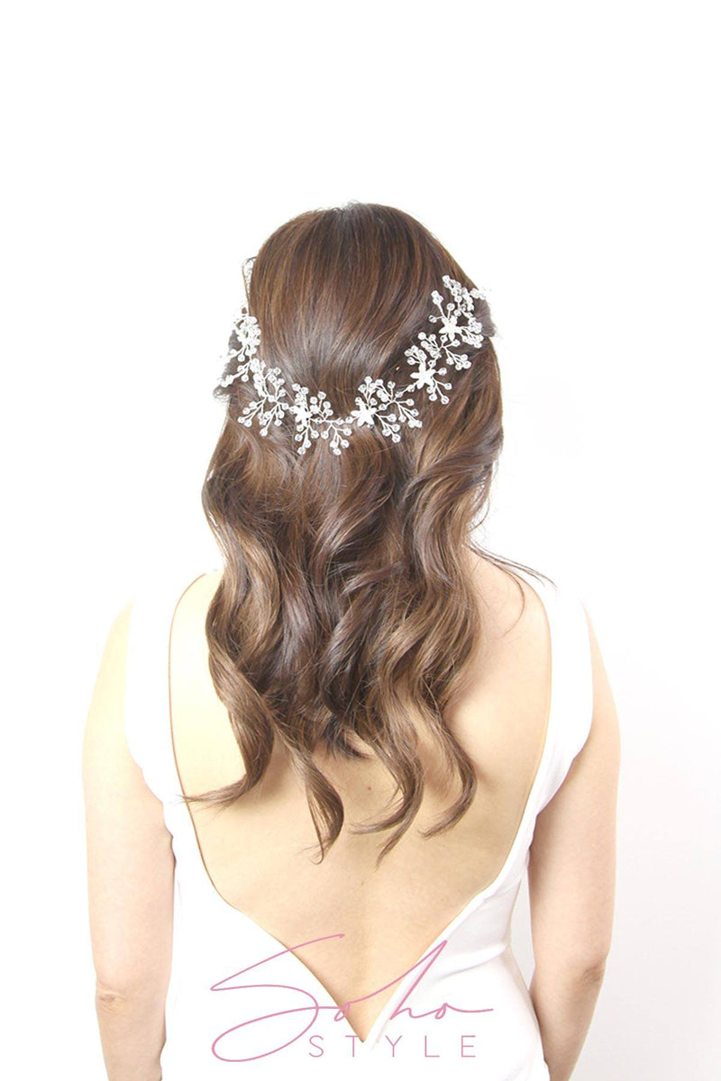Melodie Crystal Hair Crown Wedding Sale