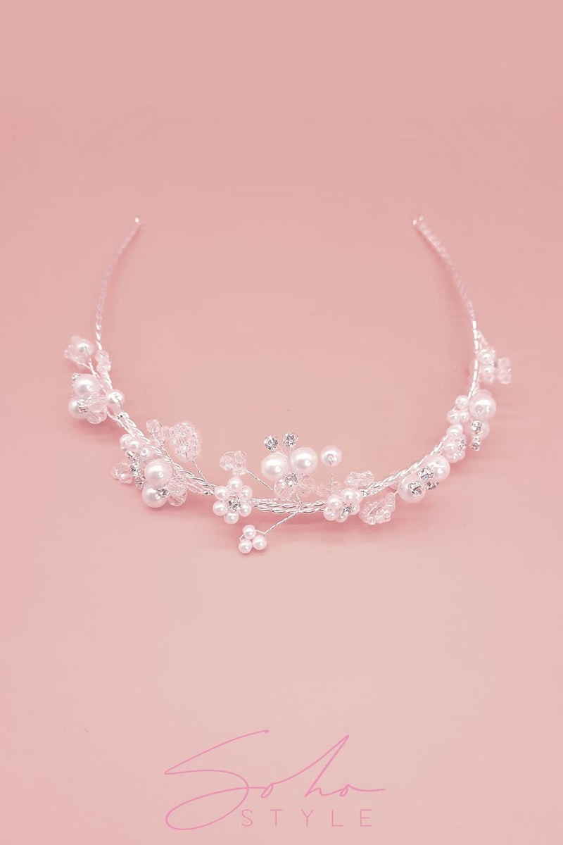 Pearl Garden Hair Crown Wedding Sale