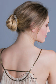 Multi-Tone Almond Crystal Hair Stick -  Stick, Soho Style