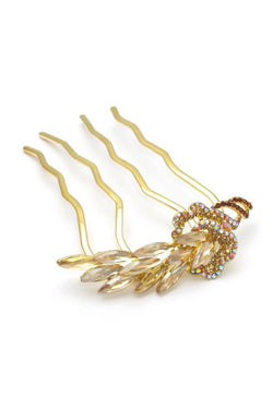 Crystal Feather Hair Stick Stick Soho Style