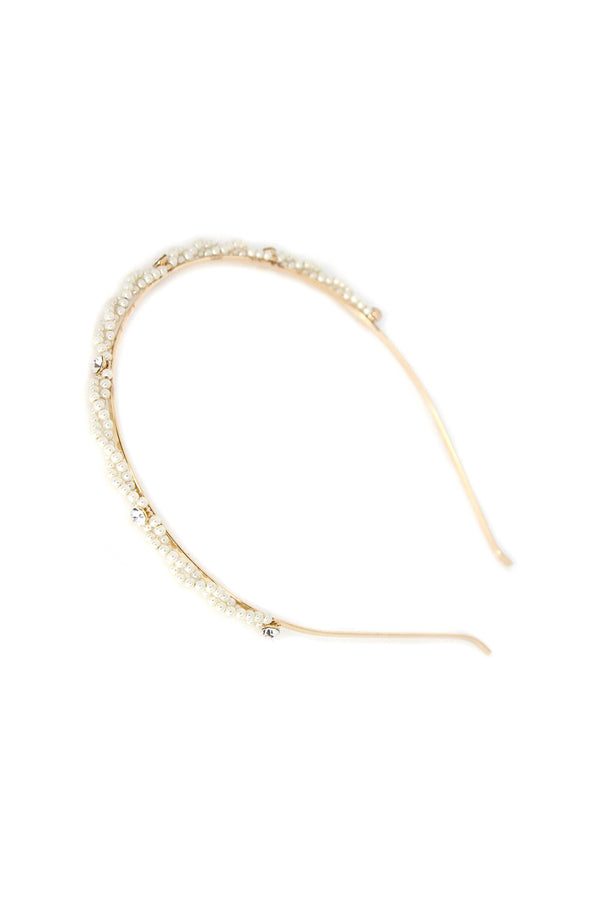 Polished Pearls Crystal Headband Headband 2019