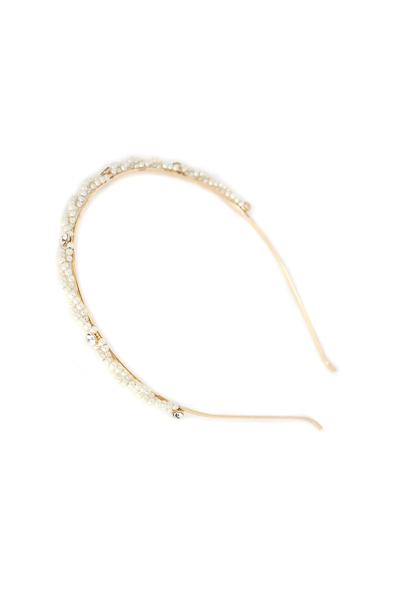 Polished Pearls Crystal Headband
