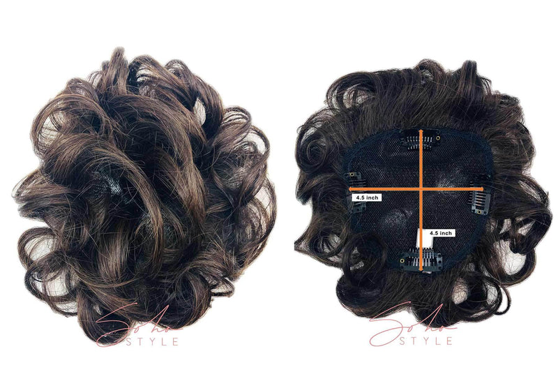 "Alex - 8"" Synthetic Short Hair Top Piece Hair Extension Soho Style"