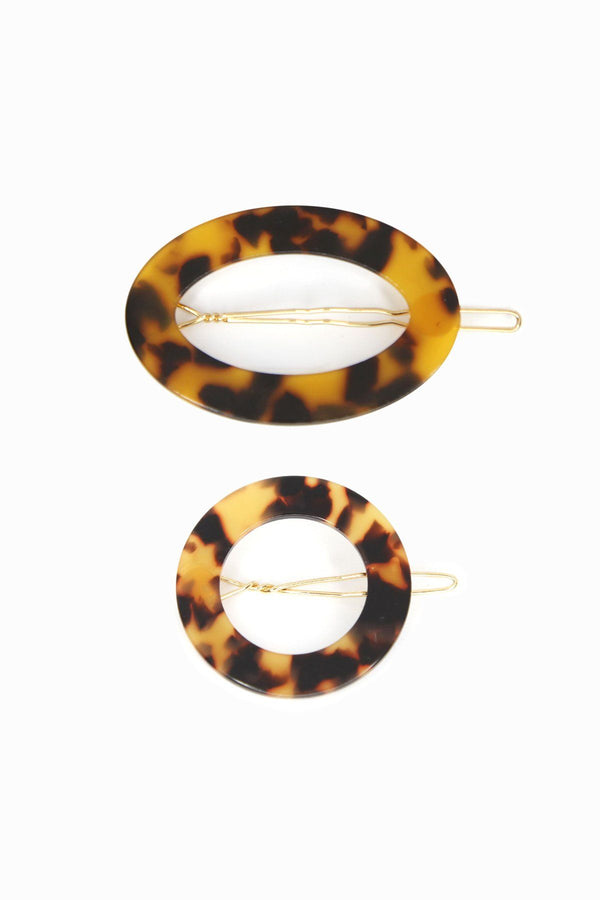 Cult Classic Tortoise Shell Hair Clip (Oval shape Only)