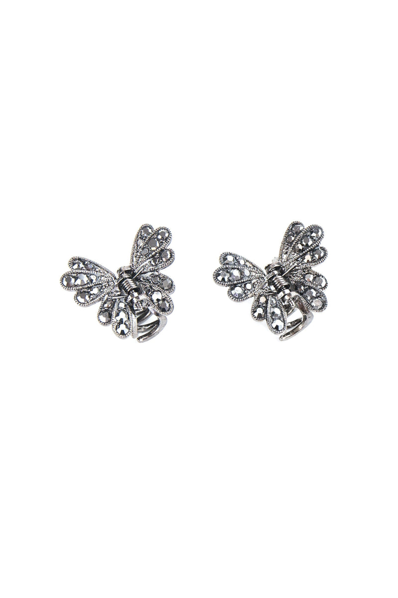 Mini Metallic Butterfly Hair Jaw (Pair)
