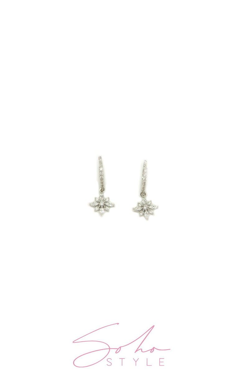 Diamond snow flake Earring Soho Style