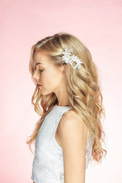 Floredelis Crystal Hair Crown Wedding Sale